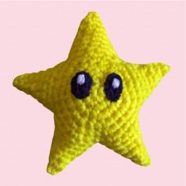 Mario hvězda (háčkovaná)