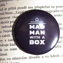 Placka Madman with a box (černá)