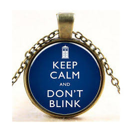 Přívěsek Keep calm and don´t blink | Doctor Who