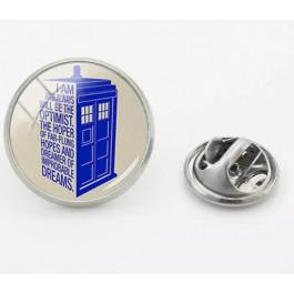 Brož TARDIS kulatá   Doctor Who