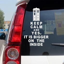 Samolepka Keep calm | Doctor Who